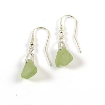 Sea Glass Sterling Silver Earrings e78