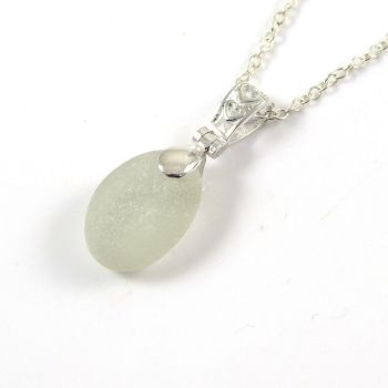 Seaspray Sea Glass and Silver Necklace ELLEN