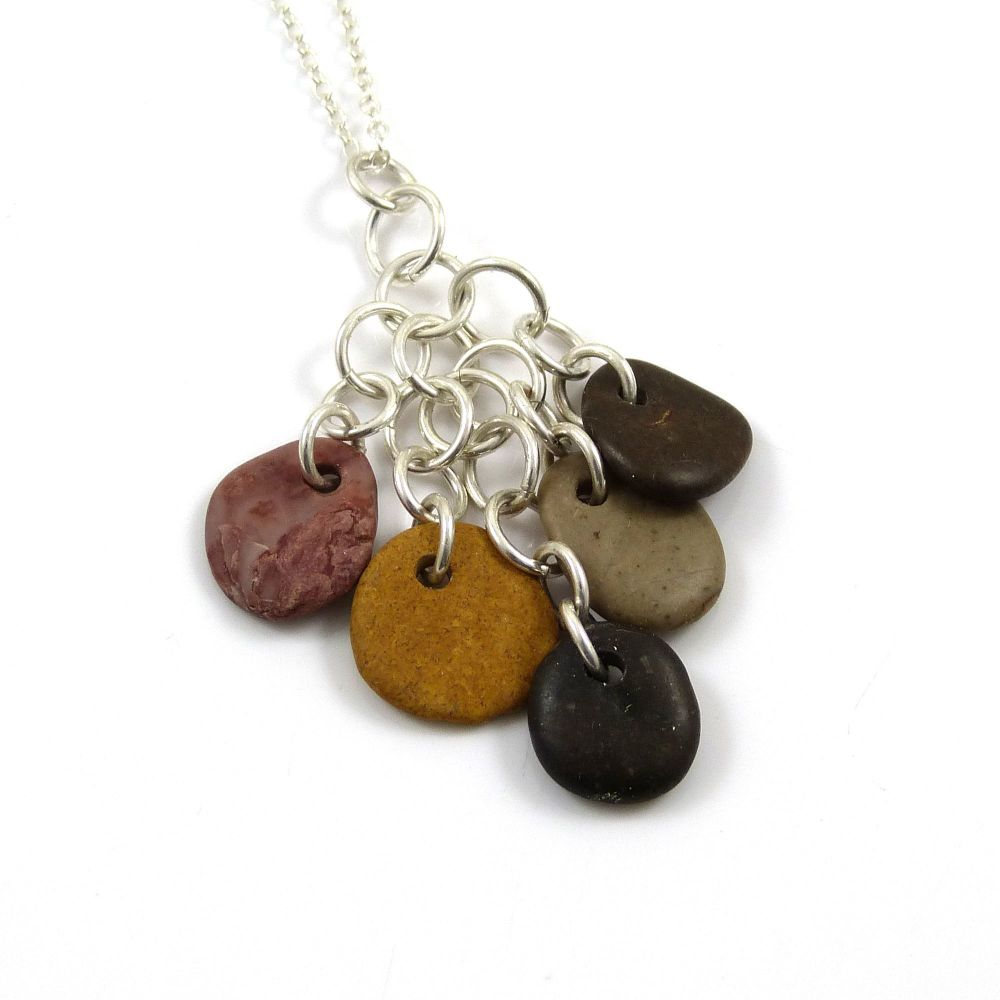 Beach Pebble Cluster Necklace MELTEM