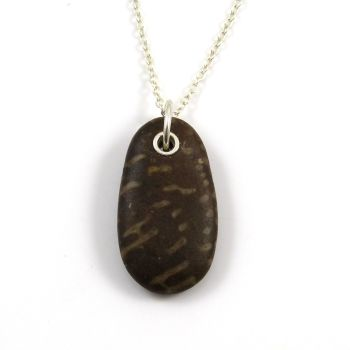 Brown Fossil Beach Stone Necklace