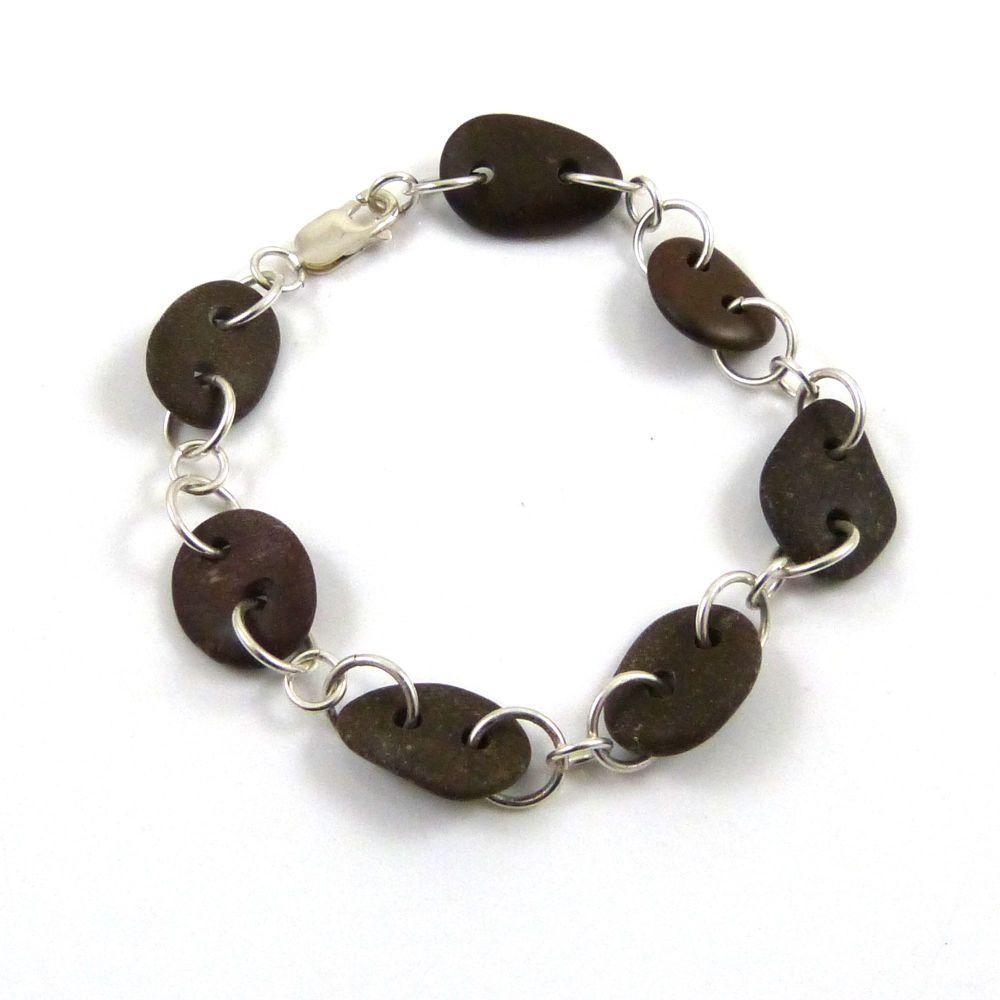 Brown Beach Stone Bracelet