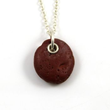 Hand-drilled Beach Stone Necklace