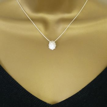 Tiny Sterling Silver Cast Limpet Seashell Pendant Necklace
