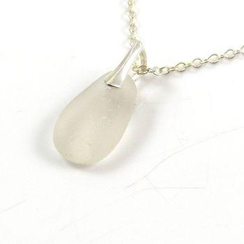 Snow White Sea Glass Necklace GIGI