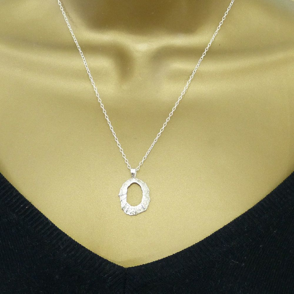 Sterling Silver Cast Limpet Seashell with Hole Pendant Necklace Hallmarked
