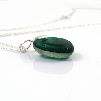 Jade Green Seaham Sea Glass Multi Necklace ADALINA