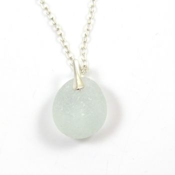 Seaspray Sea Glass and Silver Necklace MIMI