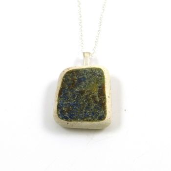 Multi Coloured Beach Pottery Pendant Necklace CORA