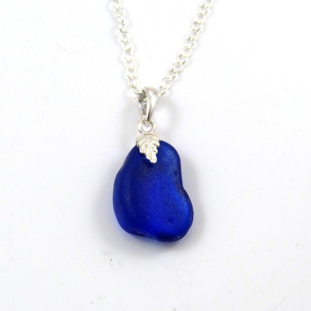 Cobalt Blue Sea Glass Necklace ALANA