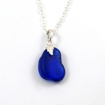 Cobalt Blue Sea Glass Necklace ALANA