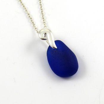 Cobalt Blue Sea Glass Necklace  SEA MAIDEN