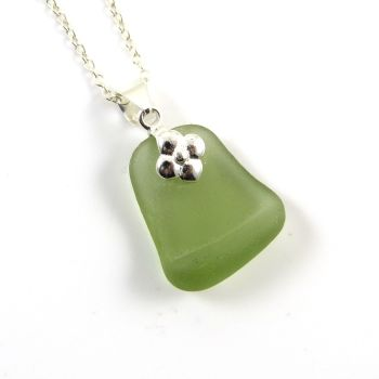 Green Sea Glass Necklace ANYA