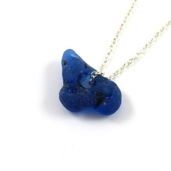 Cobalt Blue Bonfire Sea Glass Necklace AMARIS