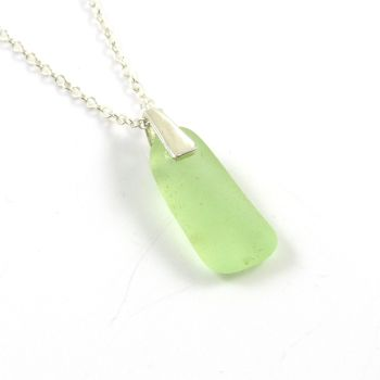 Rare! UV (Ultraviolet) Sea Glass Necklace NEON