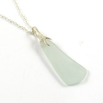 Seamist Sea Glass And Silver Tendril Pendant Necklace LACIE
