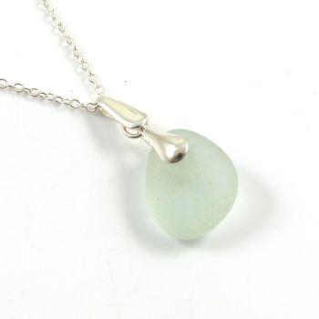 Seamist Blue Sea Glass Necklace SANDY