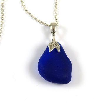 Cobalt Blue Sea Glass Necklace Mermaid MINA