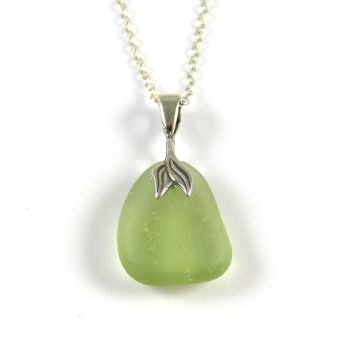 Soft Green Sea Glass Necklace Mermaid JERI