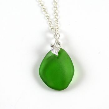 Emerald Green English Sea Glass Necklace ROISIN