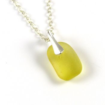 Seaham Yellow Sea Glass Necklace  DEEMA