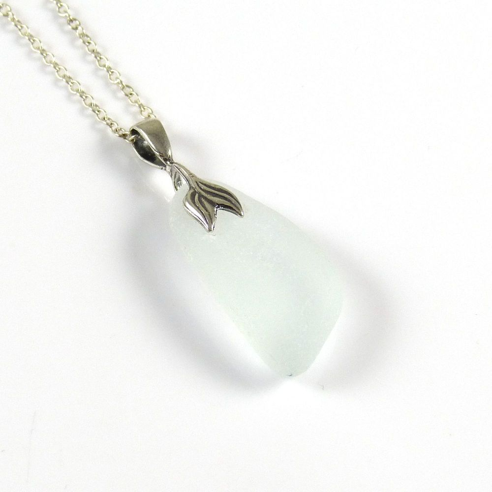 Pale Sea Blue Sea Glass Necklace Mermaid - ELKE