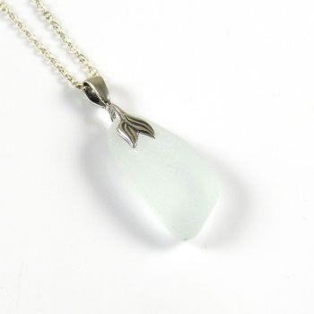 Pale Sea Blue Sea Glass Necklace Mermaid - ELKE