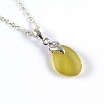 Tiny Gold Sea  Glass Necklace