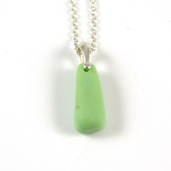 Pastel Green Milk Sea Glass Necklace MERI