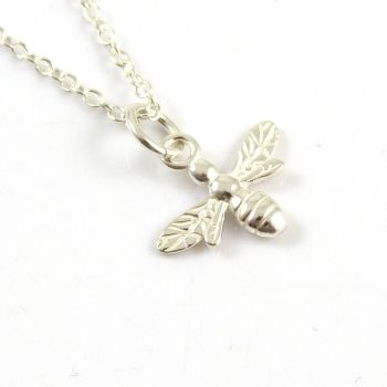 Sterling Silver Bee Necklace - Simple - Dainty - Minimalist