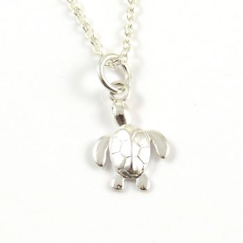 Sterling Silver Turtle Necklace - Simple - Dainty - Minimalist