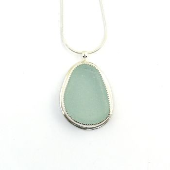 Seafoam Sea Glass Pendant Necklace TILDA