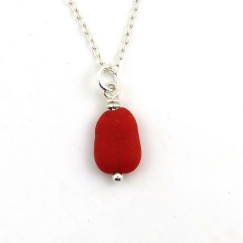 Red Sea Glass Bead Necklace