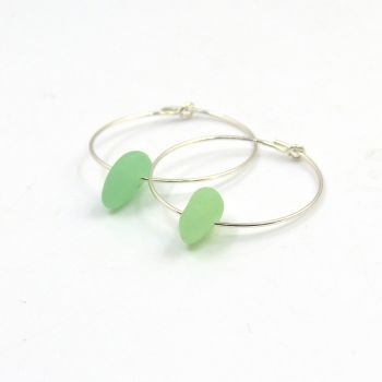 Seaham Ultraviolet Sea Glass Sterling Silver Earrings
