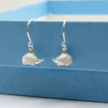 Sterling Silver Hedgehog Drop Earrings