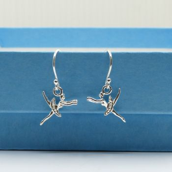 Sterling Silver Ballerina Drop Earrings