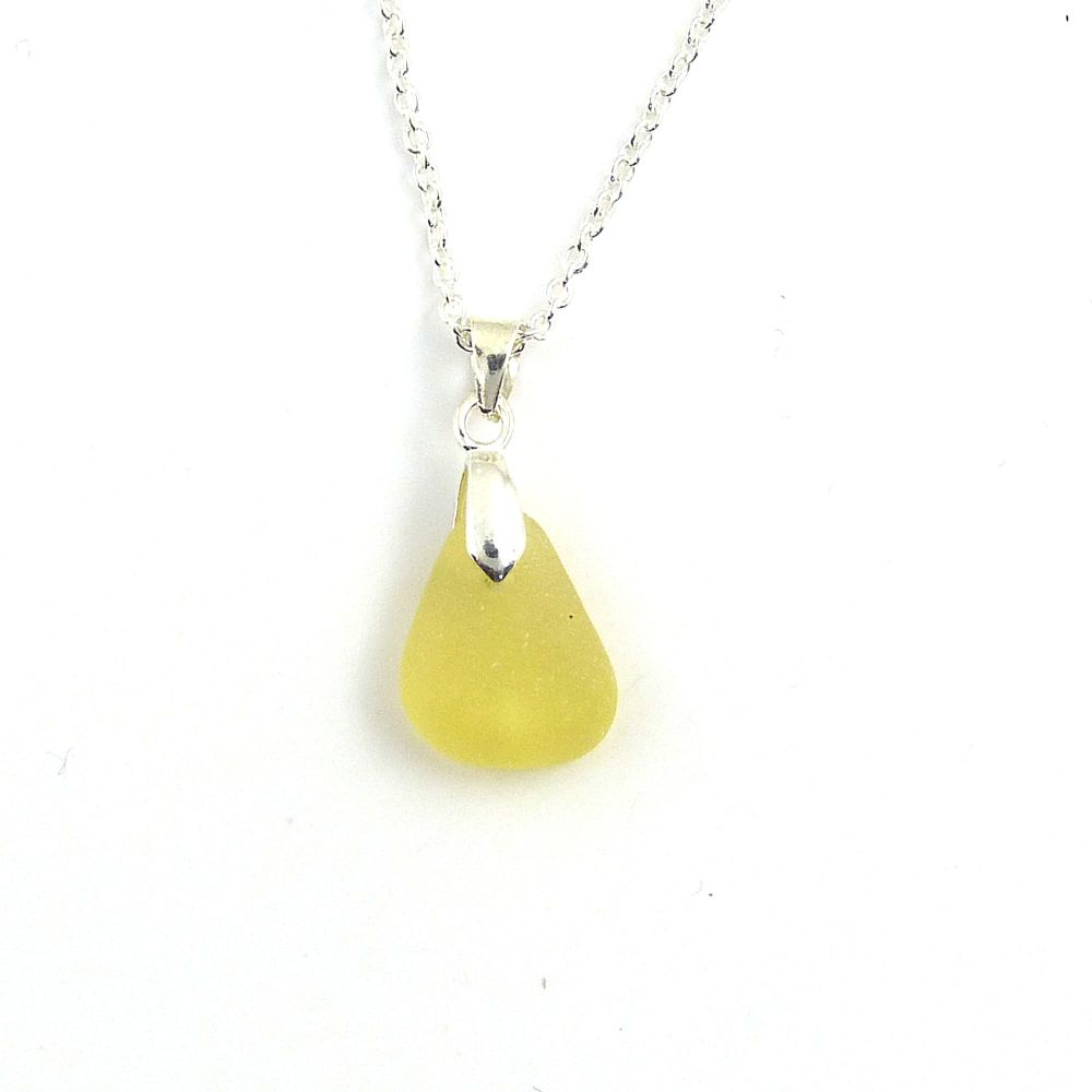 Seaham Lemon Sea Glass Necklace