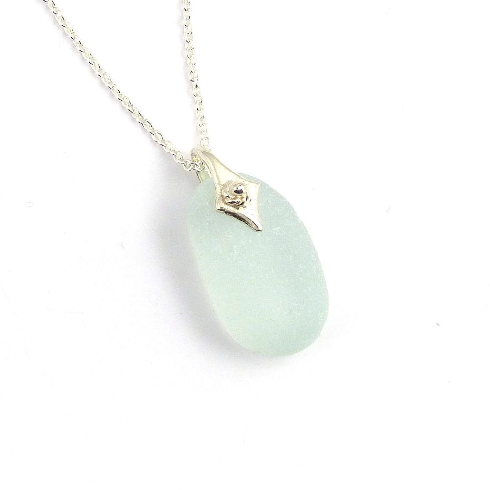 Sea Glass Necklace Seafoam MAISY
