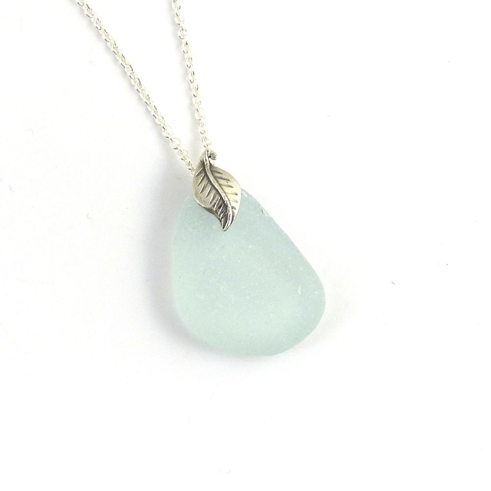 Sea Glass and Sterling Silver Necklace ELLE