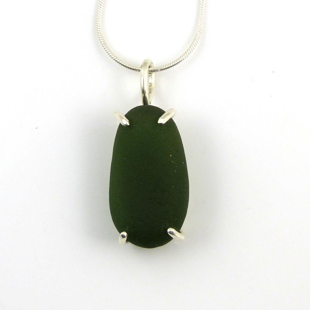 Hunter Green Sea Glass Necklace JOSS