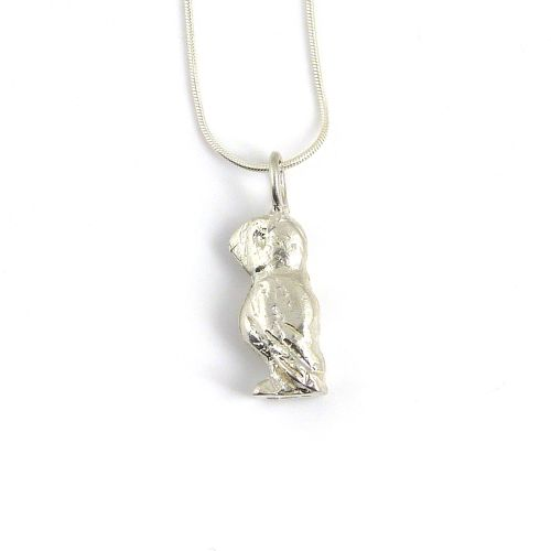 sterling silver puffin necklace (2)