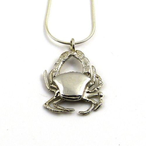 sterling silver cast crab necklace (4)