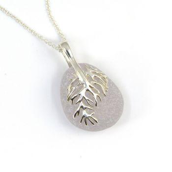 Pale Lavender Sea Glass Pendant Necklace, Rare Sea Glass, Beach Glass, Beach Jewellery IONE