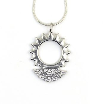 Sterling Silver Sunrise Pendant Necklace