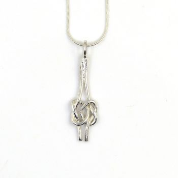 Sterling Silver Lover's Knot Pendant Necklace