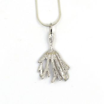 Sterling Silver Small Hornwrack  Pendant Necklace