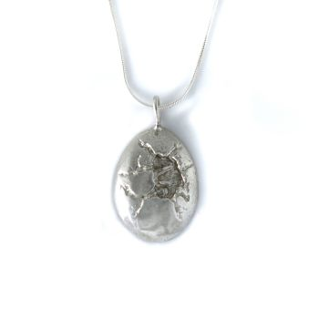 Sterling Silver First Breath Egg Pendant Necklace