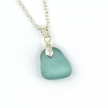 Turquoise Sea Glass Necklace FAY