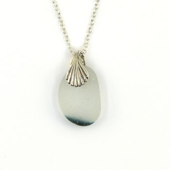 Seaham Sea Glass Necklace, Seaham Beach, White/Green Sea Glass, The Strandline, ADRI