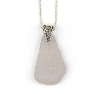 Pale Lavender Sea Glass Pendant Necklace, Rare Sea Glass, Beach Glass, Beach Jewellery IONE