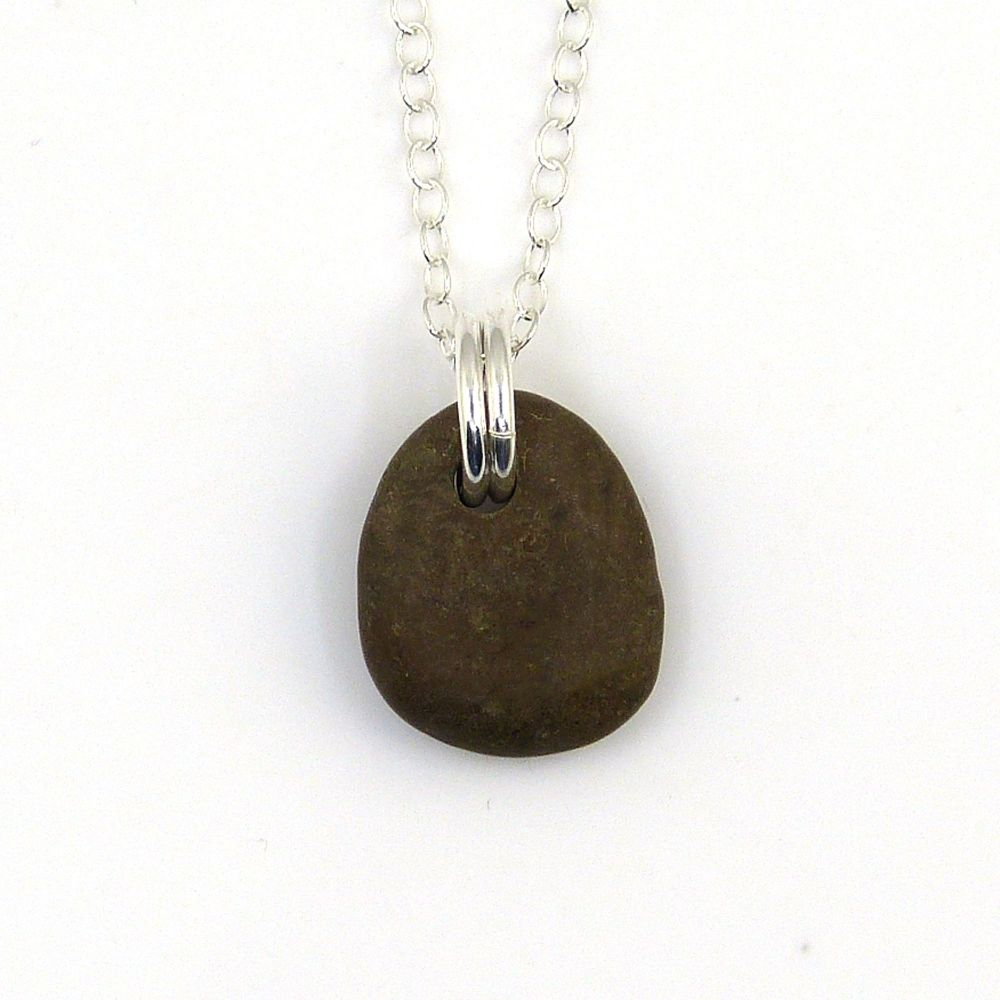 Brown Pebble Necklace, TYRA